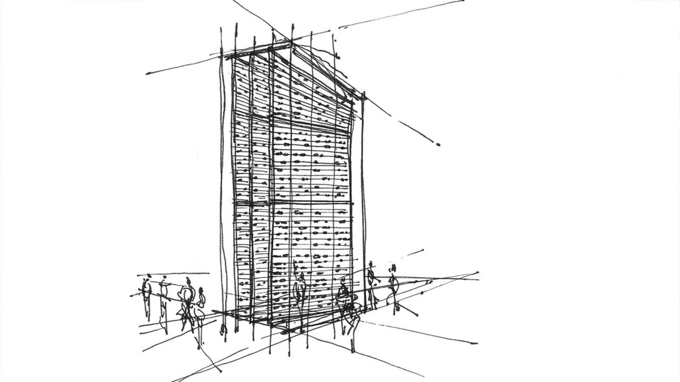 Abacus Stela - concept sketch - 1 - copyright Marie S.A. Sorensen - 2014